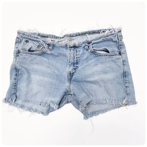 Levi's distressed cutoff jean shorts 28